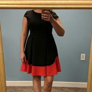 Calvin Klein Black and Red Dress, size 12